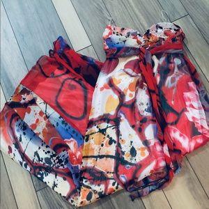Xhilaration modern print strapless dress